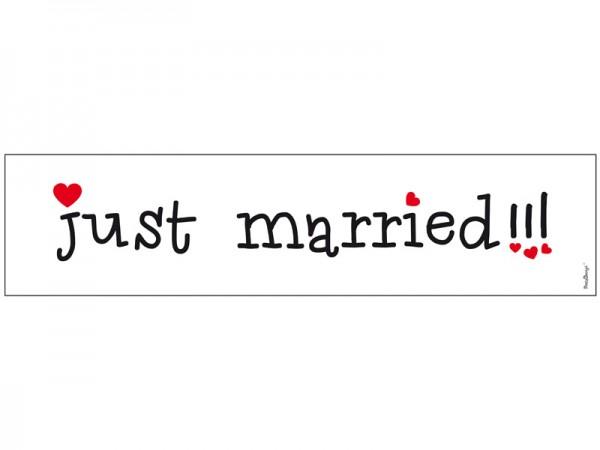 Nummernschild Just Married Lustig
