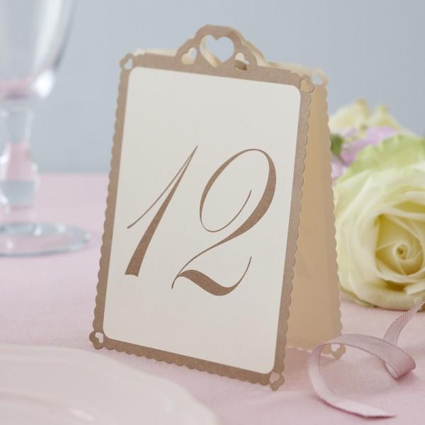 Tischnummer Herz Creme1
