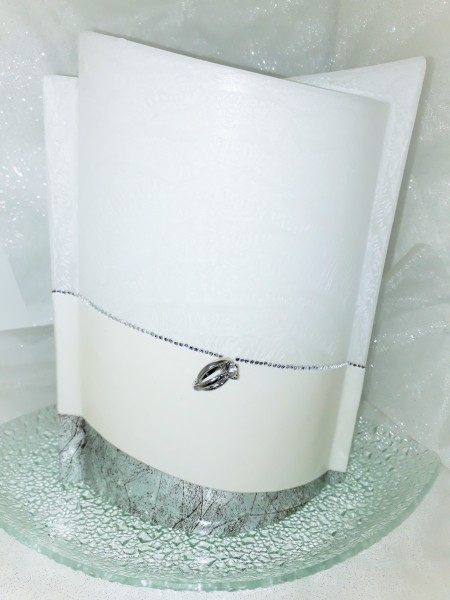 Hochzeitskerze Edel mit Kerzenteller
