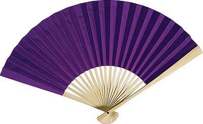 Premium Papierfächer Violett