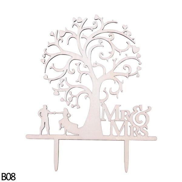Tortendeko Mr. & Mrs. Rustikal Baum