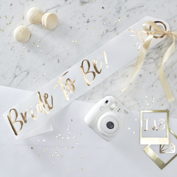 Schärpe Bride To Be - I DO - Crew