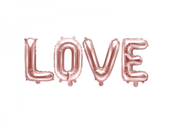 Folienballon LOVE Rosé