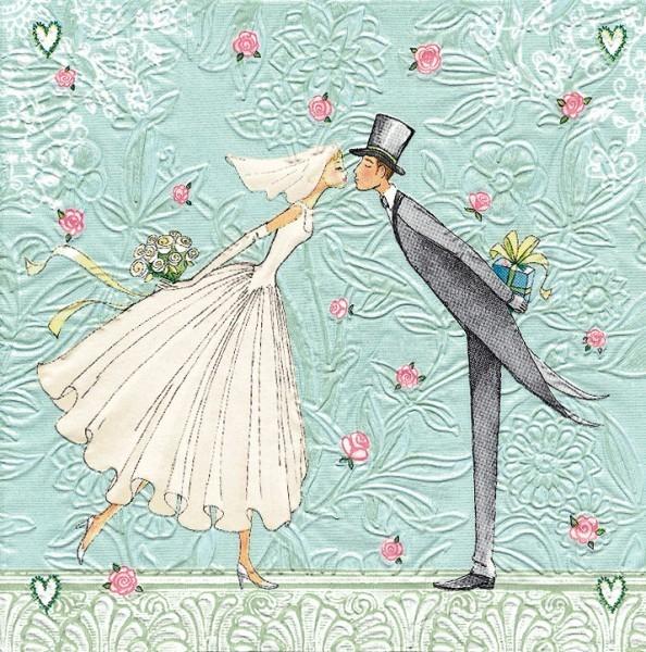 Servietten Hochzeitspaar