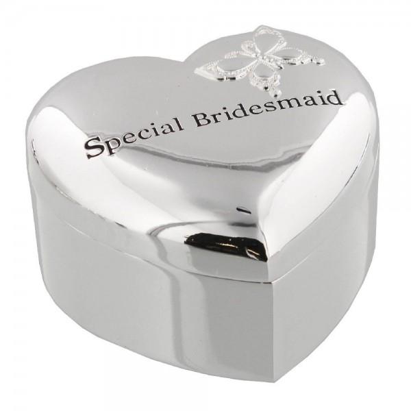 Geschenkbox Schatulle Brautjungfer Silber