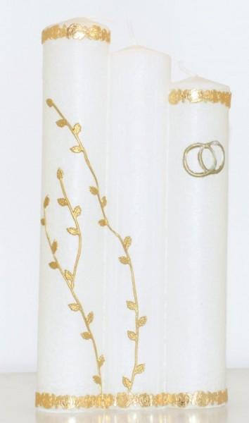 Hochzeitskerze Gold