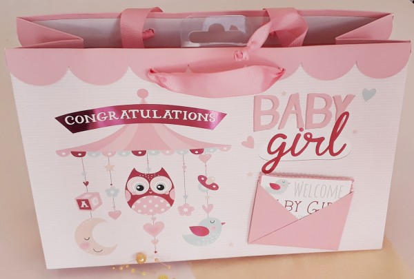 Geschenksackerl Welcome Babygirl