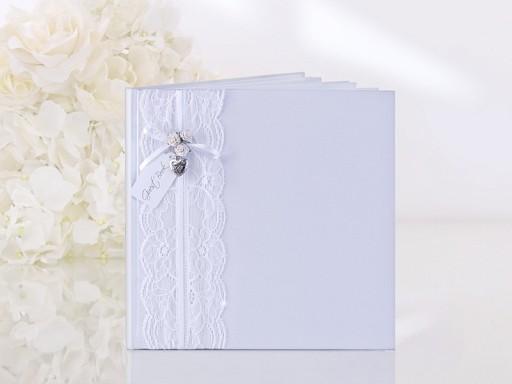Gästebuch Weiß Englisch