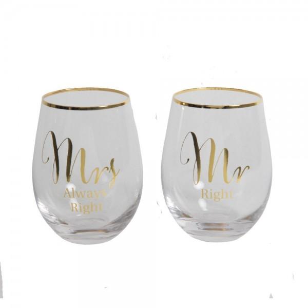 Gläser Mr. & Mrs.