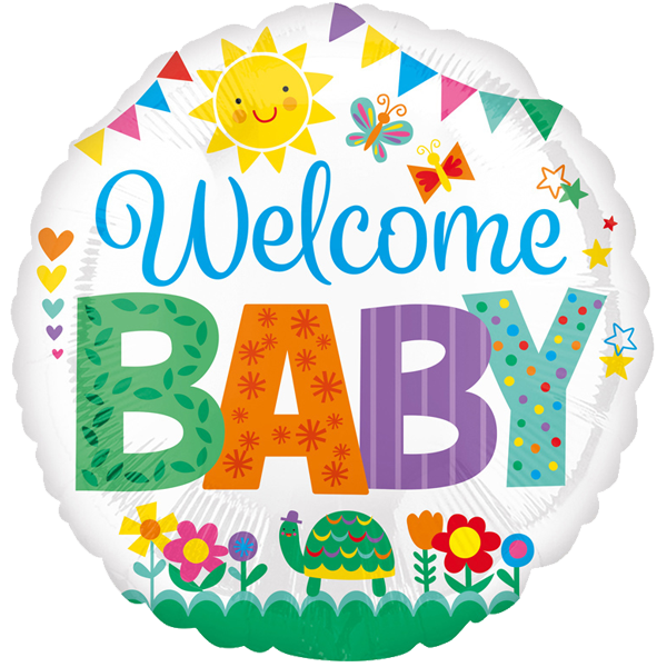 Folienballon Welcome Baby – mit Heliumfüllung
