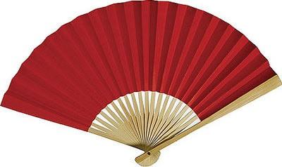 Papierfächer Rot