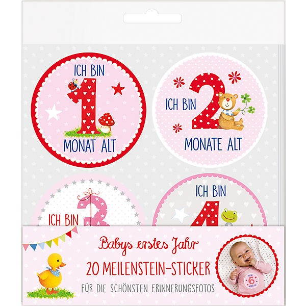 Meilenstein-Sticker Babygirl