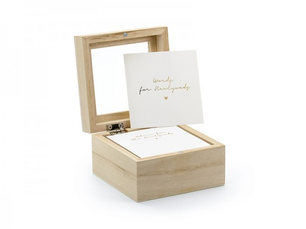 Gästebuch Holzbox