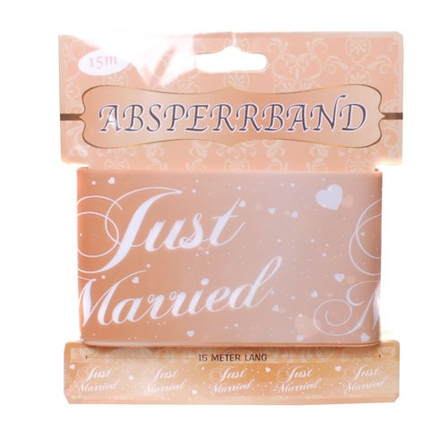 Absperrband Just Married Rosé