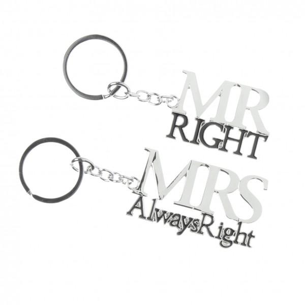 Schlüsselanhänger Mr. & Mrs. Right