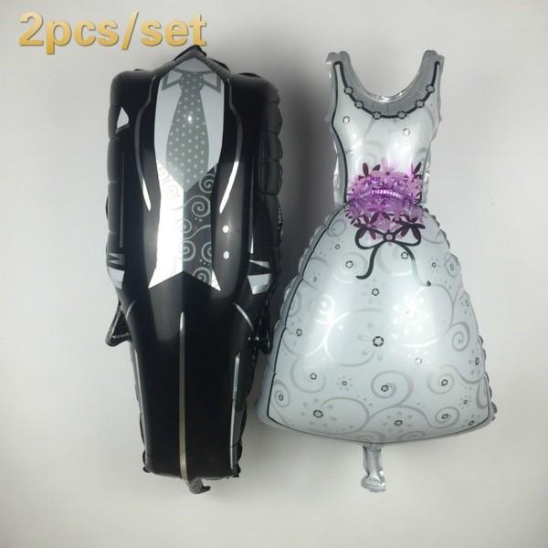Folienballon-Set Brautpaar