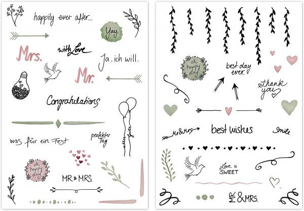 Hochzeitssticker