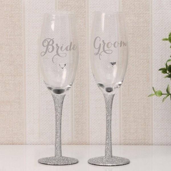 Sektgläser Bride & Groom Edel
