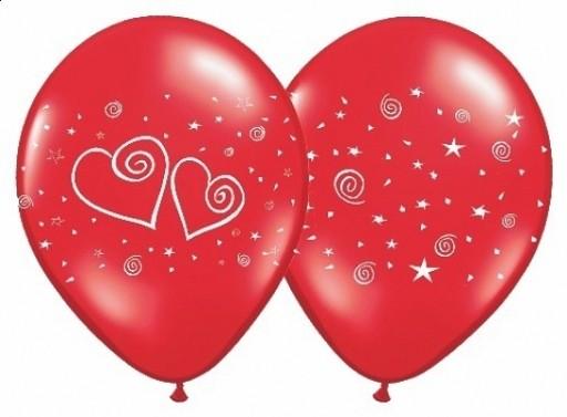 Luftballon Herzerl Rot