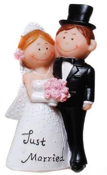 Tortenfigur Comic Brautpaar