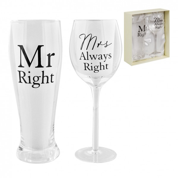 Gläser-Set Mr. & Mrs.