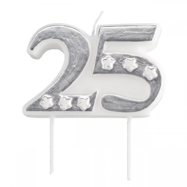 Zahlenkerze 25