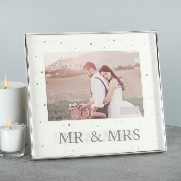 Bilderrahmen Mr. & Mrs. Kristall