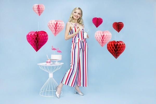 Wabenball Herz Pink
