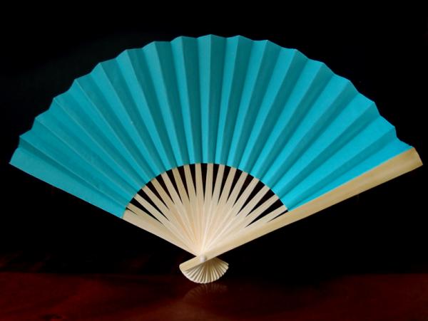 Papierfächer Blau