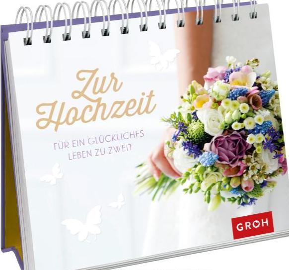 Aufsteller Zur Hochzeit - Für ein glückliches Leben zu zweit