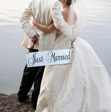 Schild Just Married