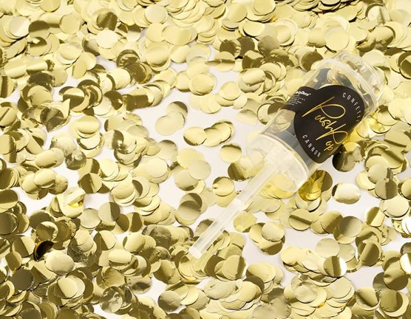 Konfetti-Popper Gold