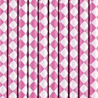 Strohhalme Pink