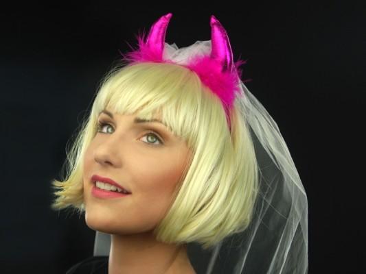 Haarreifen Pink Devil