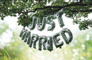 Folienballon Just Married