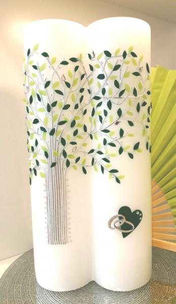 Hochzeitskerze Grüner Baum