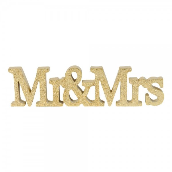 Deko Mr & Mrs Gold