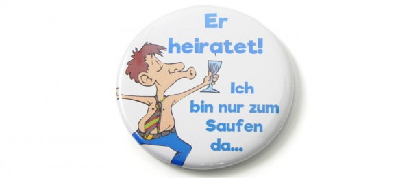 Button Er heiratet - Team Bräutigam