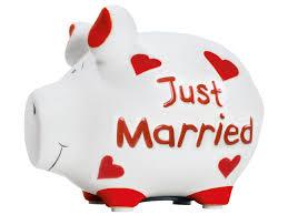 Sparschwein Just Married Small