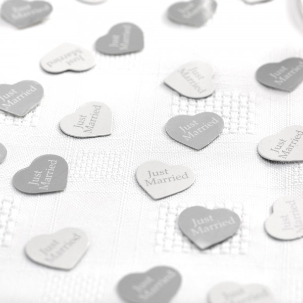 Streuteile Herz Silber