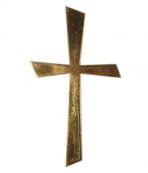 Wachsmotiv Kreuz Gold