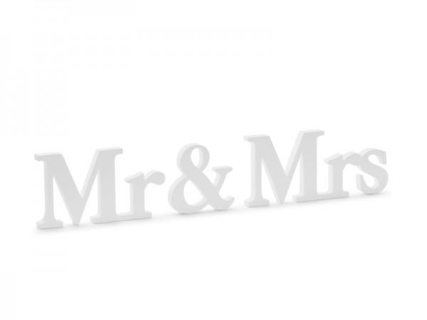 Deko Mr. & Mrs. Weiß