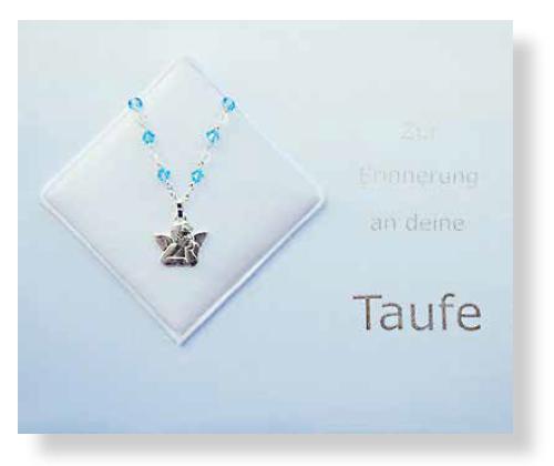 Taufbrief Schutzengerl Blau
