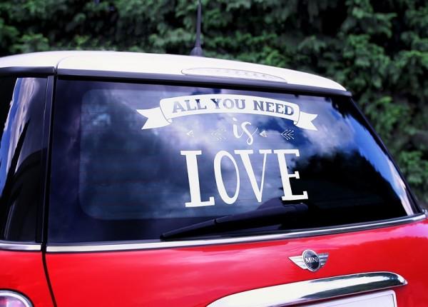 Autoaufkleber Love