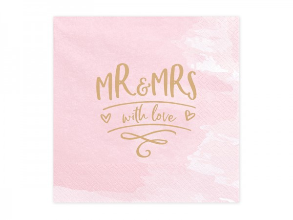 Servietten Mr. & Mrs. Pink