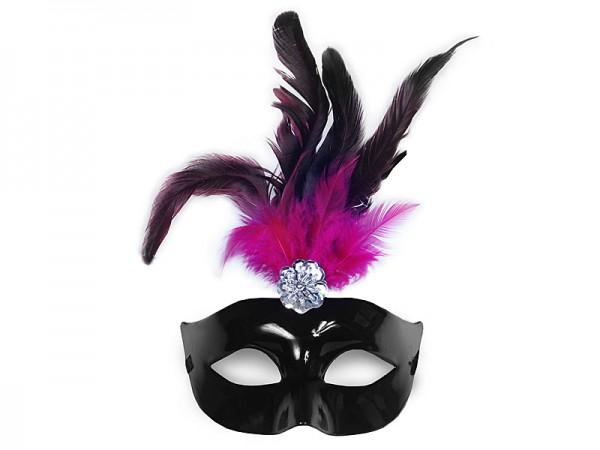 Maske Pink-Schwarz