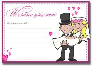 Ballonflugkarten verliebt, verlobt, verheiratet