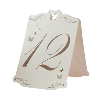 Tischnummer Butterfly