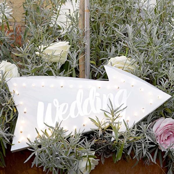 Leuchtpfeil Wedding