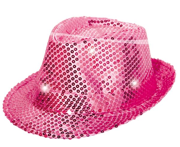 Glamourhut Pink mit LED